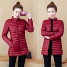 冬季棉襖2021新款韓版輕薄棉衣女中長款大碼修身顯瘦羽絨棉服外套 8號店