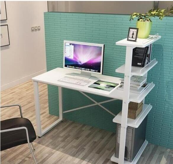 快出 90cm暖白色五層組裝電腦桌下殺7折 卡菲婭