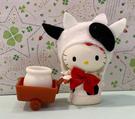 【震撼精品百貨】Hello Kitty 凱蒂貓~三麗鷗 KITTY乳牛絨毛推車玩具*00140