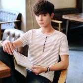 裝男士短袖t恤韓版圓領半袖上衣學生情侶體恤潮男裝衣服打底衫G    初語生活