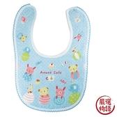 【日本製】【anano cafe】日本製 快樂寶貝 紗布圍兜兜 藍色 SD-2889 - 日本製