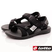 【LOTTO】潮流涼鞋款-潮流織帶涼鞋-LT8AWS6160-黑-女段-0