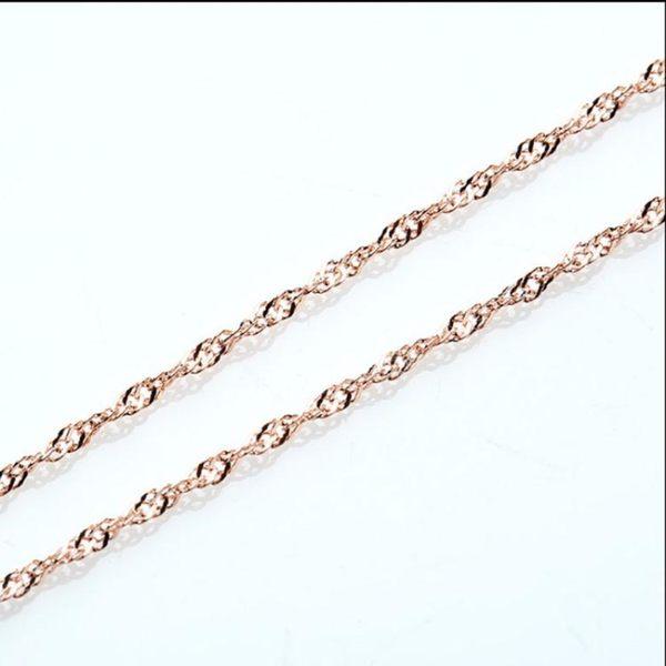 飾品鍍玫瑰金水波鏈 項鏈飾品s146