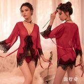 情趣內衣 性感透視裝露毛女三點式制服騷激情套裝小胸睡衣 AW14742【旅行者】