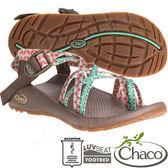 Chaco ZCW04_HE46皇室松綠 女越野運動涼鞋-ZX2夾腳款 水陸兩用沙灘鞋/織帶運動鞋