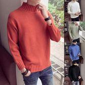 秋冬季男士半高領毛衣新款韓版潮流修身加絨加厚針織衫男 免運直出 聖誕交換禮物