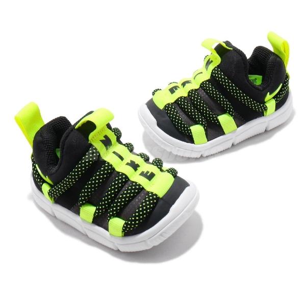 Nike 休閒鞋 Novice TD 黑 黃 童鞋 小童鞋 運動鞋 毛毛蟲鞋 【ACS】 AQ9662-005