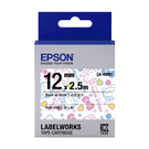 EPSON LK-4WBY C53S654448 Kitty系列甜心款白底黑字標籤帶 寬度12mm