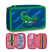 Tiger Family小騎士多功能雙層創意文具袋 - 宇宙恐龍