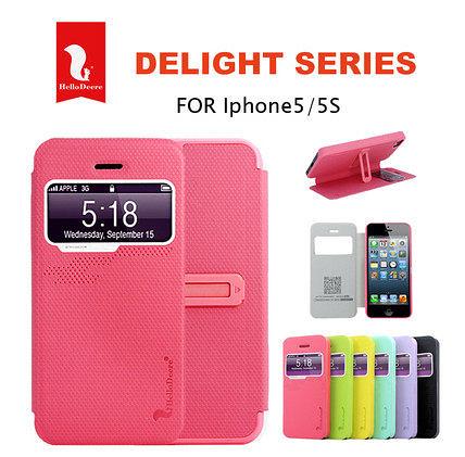 iPhone 5免運 悦系列 蘋果iphone5 5s來電顯示皮套5s視窗皮套(任選二個$900)