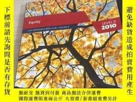 二手書博民逛書店CFA罕見Equity LEVEL 2 2010Y241950
