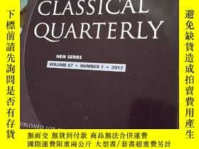 二手書博民逛書店THE罕見CLASSICAL QUARTERLY VOLUME