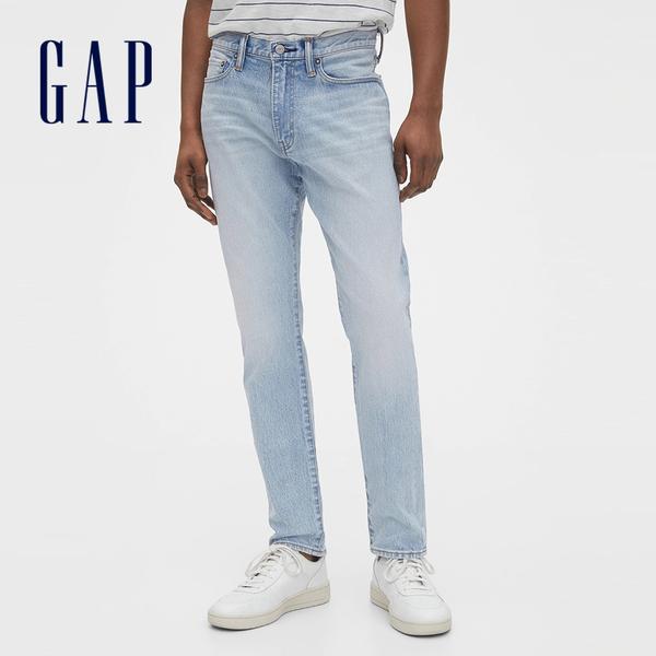 Gap男裝淺色水洗五口袋牛仔褲555381-淺靛藍