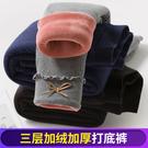 女童冬裝新款棉褲兒童三層加絨加厚寶寶打底褲外穿中小童保暖褲子
