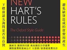 二手書博民逛書店New罕見Hart s Rules: The Oxford St