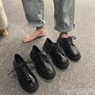 小皮鞋小皮鞋英倫風港風鞋子女秋冬2020新款韓版百搭學院風休閒單鞋爆款 春季上新