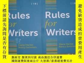 二手書博民逛書店2012罕見Rules for Writers(上下冊) 【16