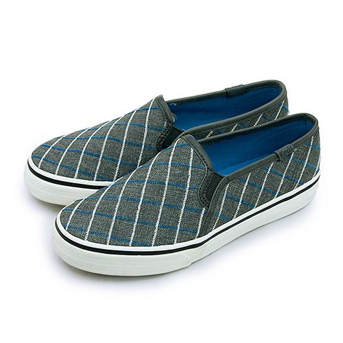 LIKA夢 Keds 時尚韓風經典款帆布鞋 DBL DECK WINDOW 系列 深灰藍 131888 女