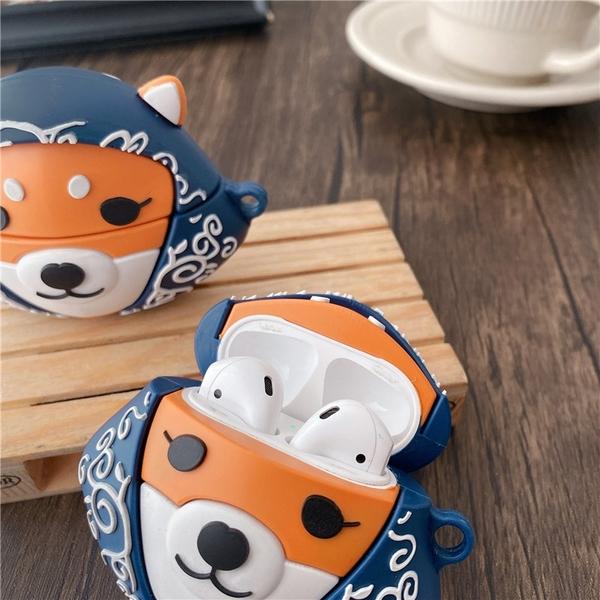 Airpods Pro 專用 1/2代 台灣發貨 [ 日本頭巾柴犬 ] 藍芽耳機保護套 蘋果無線耳機保護