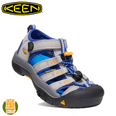 【KEEN 美國 童 NEWPORT H2 護趾涼鞋《深灰/寶藍》】1020355/輕量透氣/水陸兩用鞋/溯溪鞋/透氣快乾
