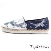【Joy&Mario】新潮設計師塗鴉款草編男鞋 - 57269M NAVY 美碼9