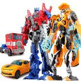 聖誕交換禮物-變形玩具金剛模型5小汽車機器人大黃蜂警車恐龍戰士兒童男孩 交換禮物