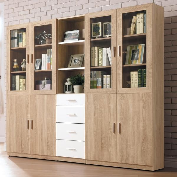 OB004-貝莉6.6尺系統組合書櫃(19HY2/B503-02)【DD House】