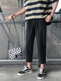 西裝褲褲子男秋冬季百搭寬鬆韓版潮流長褲休閒褲直筒闊腿九分西裝褲 新年禮物