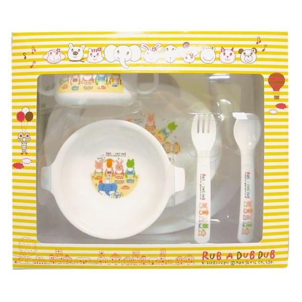 【日本製】【Rub a dub dub】幼童用 寶寶餐具組 SD-9107 - Rubadubdub