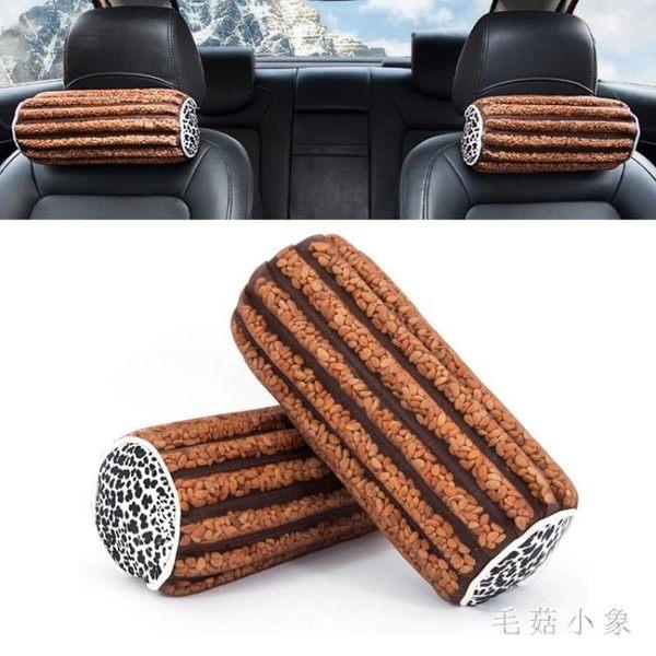 汽車頭枕 一對夏季透氣山楂籽護頸枕頭按摩桃核靠枕汽車座椅頸枕 ys4822『毛菇小象』