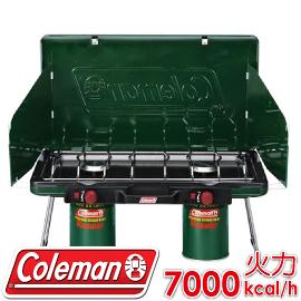 【Coleman 美國 6707瓦斯雙口爐 】CM-6707/ 折疊瓦斯雙口爐/ 高山瓦斯爐具