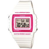 CASIO- 方形液晶電子腕錶(白紅-43mm-W-215H-7A2)