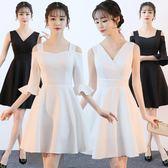 小禮服 新款夏季修身顯瘦聚會派對年會禮服裙女短款LJ7940『科炫3C』
