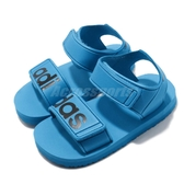 adidas 涼鞋 Beach Sandal I 藍 白 魔鬼氈 涼拖鞋 基本款 童鞋 小童鞋【PUMP306】 CG6603