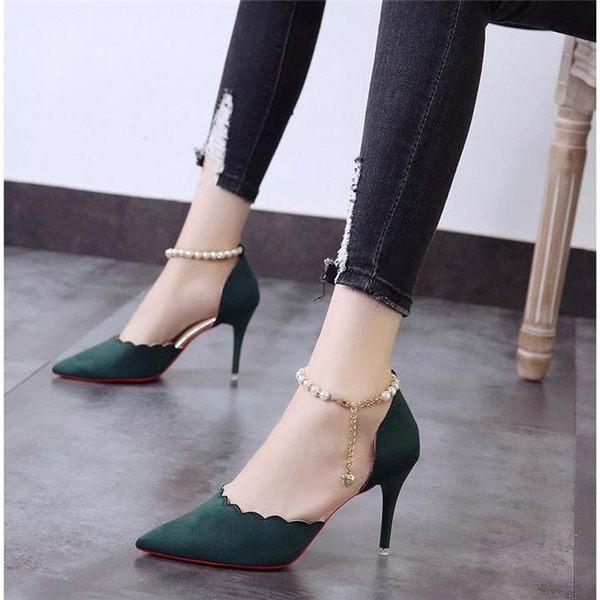 高跟鞋女細跟韓版涼鞋女鞋鞋子女學生休閒單鞋女