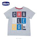 chicco-TO BE-方塊英文字短袖上衣