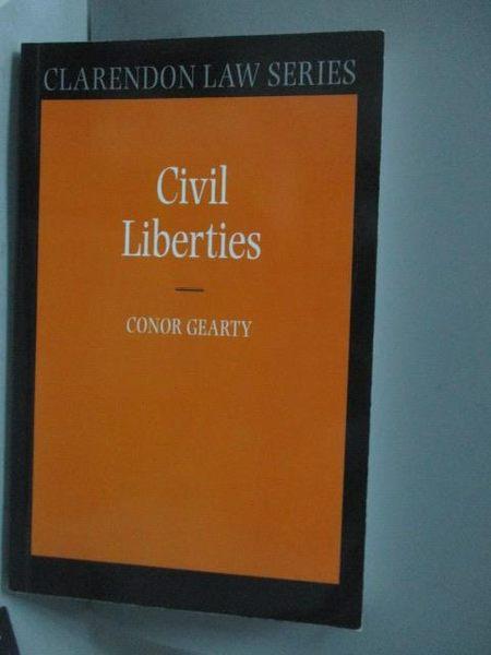 【書寶二手書T9/原文書_XER】Civil Liberties_Gearty, Conor