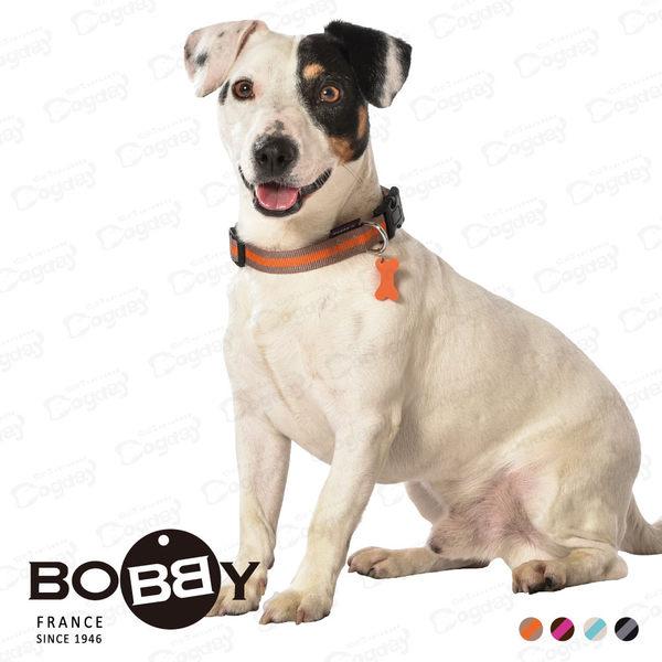 法國《BOBBY》運動彩條項圈 M號 四色 狗項圈 柴犬/米格魯/柯基