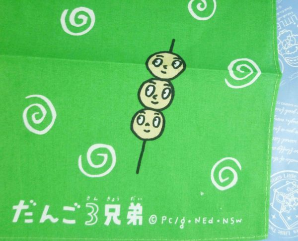 【震撼精品百貨】丸子三兄弟_だんご三兄弟-手帕-小串黃綠