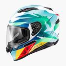 【東門城】SOL SF-6 獨角獸(白綠) 全罩式安全帽 雙鏡片(預購新品)