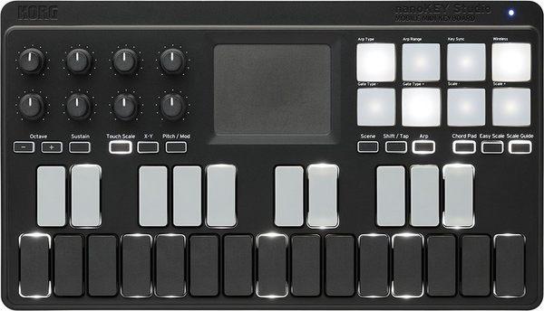 【金聲樂器】KORG NANOKEY STUDIO 藍芽 MIDI鍵盤 MIDI控制器 專用攜行袋可加購