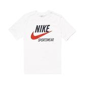 Nike 短袖T恤 NSW T-Shirt 白 藍 男款 短T 基本款 運動休閒 【ACS】 CW7072-133