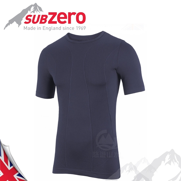 【Sub Zero 英國 Factor1+ 短袖無縫排汗衣《藍》】Factor 1 PLUS/內層衣/運動衣/防曬