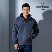 Emilio Valentino范倫鐵諾輕量防風透氣薄外套(灰/綠)