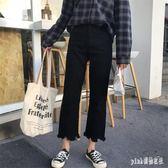 胖子韓版女裝2019新款大碼夏裝微胖女孩穿搭適合胯大腿粗的牛仔褲子潮 PA2620『pink領袖衣社』
