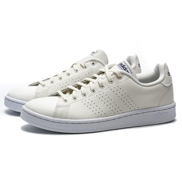 ADIDAS ADVANTAGE 米白 皮革 小白鞋 休閒鞋 男 (布魯克林) EE7685