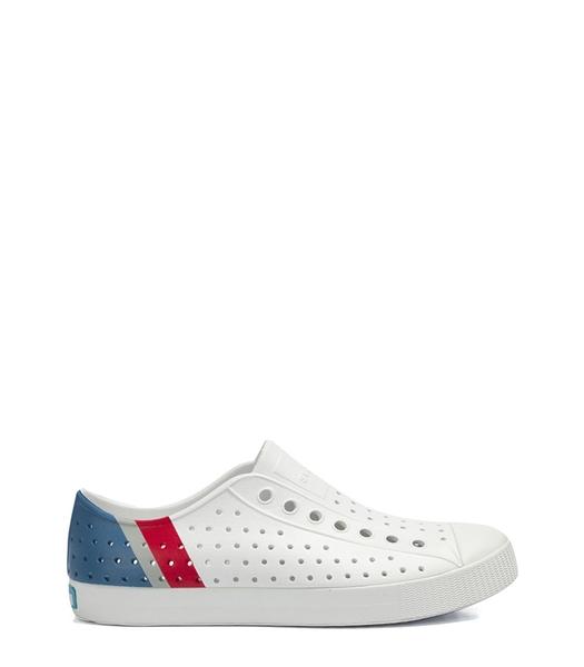 NATIVE JEFFERSON BLOCK 白藍紅三色休閒洞洞鞋-NO.11100102-8908