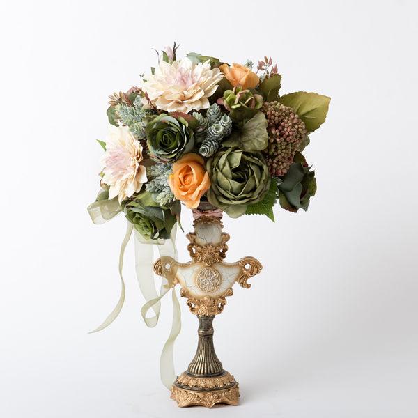 模擬花假花 套裝 花藝 客廳餐桌 裝飾花 花瓶花束 -bri01085