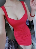 洋裝夜店夏季新款女裝吊帶性感洋裝包臀低胸夜場緊身打底超短裙  【全館免運】