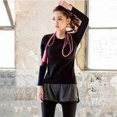 秋冬季瑜伽服上衣長袖速干女大碼胖MM200斤運動跑步健身房T恤 聖誕節禮物